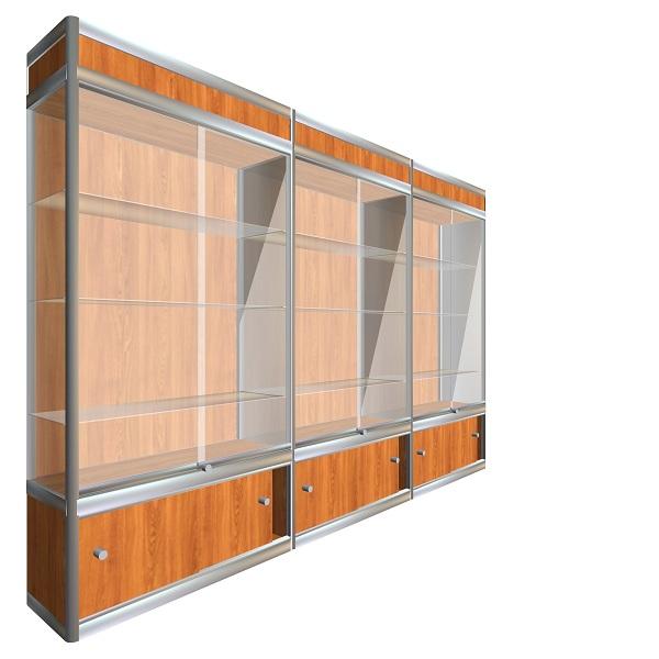 39 Стеклянная витрина из профиля